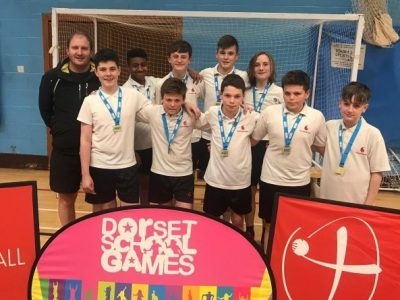 Year 8 Boys Dorset School Handball Champions