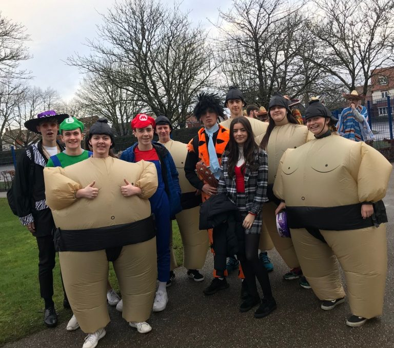 Picture of Sixth Formers head out on their charity dress up day-12
