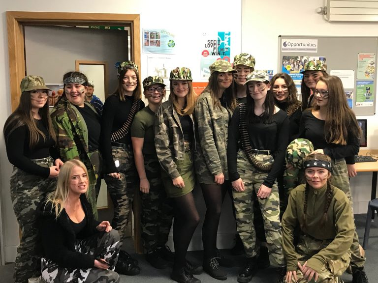Picture of Sixth Formers head out on their charity dress up day-2