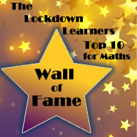 Maths Wall of Fame – Well Done!