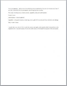 Picture of Sophie Meaker-Y9-Food Tech-Meal Plan1
